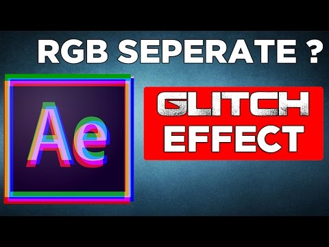Glitch RGB split Effect | Adobe After Effects CS6 Tutorials | Glitch Free Template