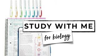 ☆ STUDY WITH ME #1: BIOLOGY | iPad Pro 10.5 & GoodNotes 4 App | September Studies