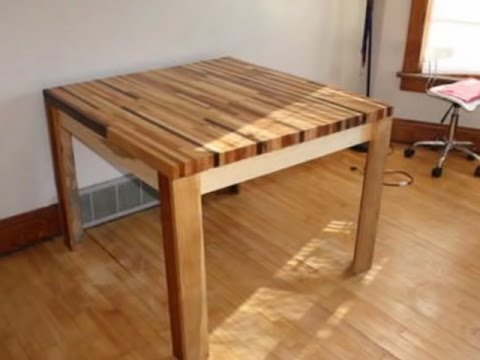 How to Make a Wooden Table from Scrap Wood - YouTube