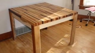How To Make A Wooden Table From Scrap Wood
