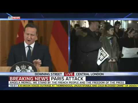 "David Cameron: ""We Stand With France Against Terrorism"""