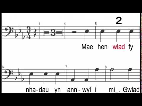 Welsh National Anthem choir songs practice app