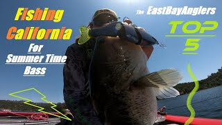 LAKE PARDEE California Bass Fishing Top 5 Summer Bait s Lure s