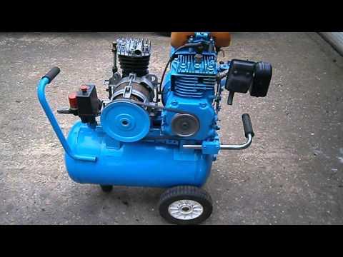 Home made / Modified / petrol driven air compressor.