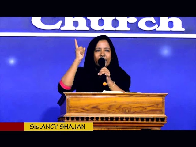 Sis.Ancy Shajan  - Deliverance By Fire 20.04.2018