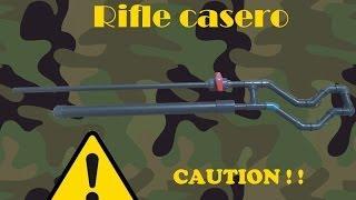armas caseras tutorial como hacer un rifle casero facil y potente