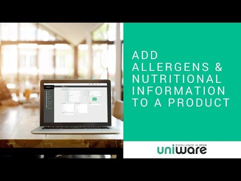 Uniware Cloud - Add Allergens and Nutritional Information to a Product