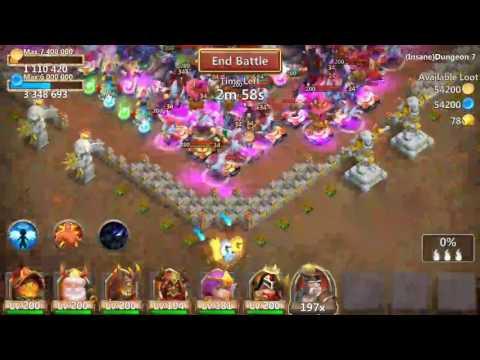 Castle Clash - Insane Dungeon 7-4 F2p