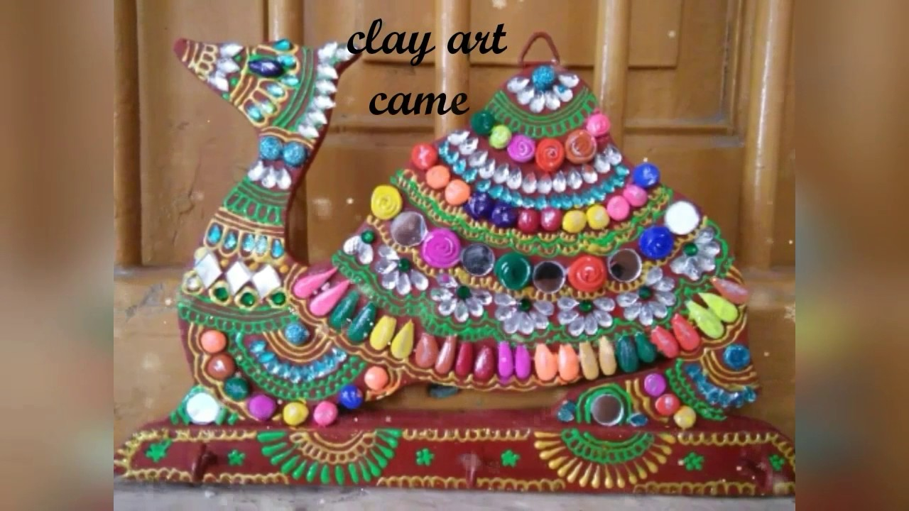 Art And Craft Items Paper Clay Handmade At Home