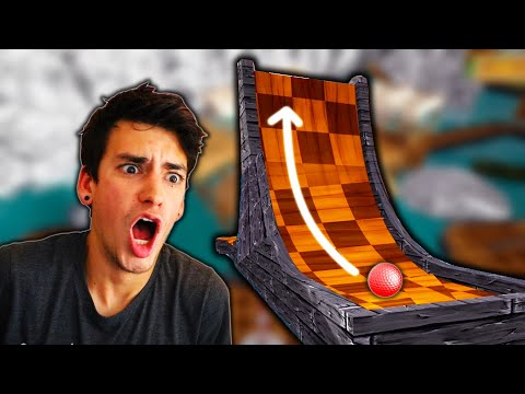 GOLFING OFF GIANT RAMPS! (Golf It) |
