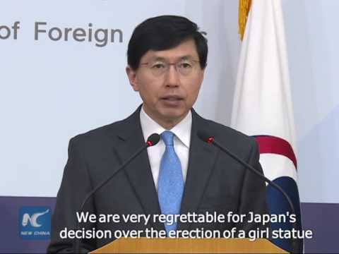 S.Korea regrettable for Japan's recall of envoys over comfort women statue