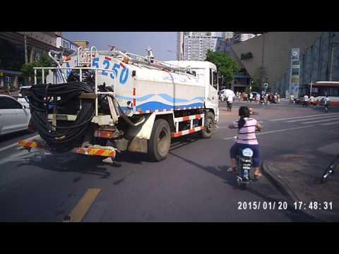 Biking in Chengdu, China -- Eyeglass-cam POV