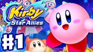 Kirby Star Allies - Gameplay Walkthrough Part 1 - Dream Land 100%! (Nintendo Switch)