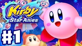 Kirby Star Allies - Gameplay Walkthrough Part 1 - Dream Land 100%! Nintendo Switch