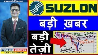 SUZLON ENERGY LATEST NEWS | बड़ी ख़बर  बड़ी तेज़ी | SUZLON ENERGY SHARE PRICE