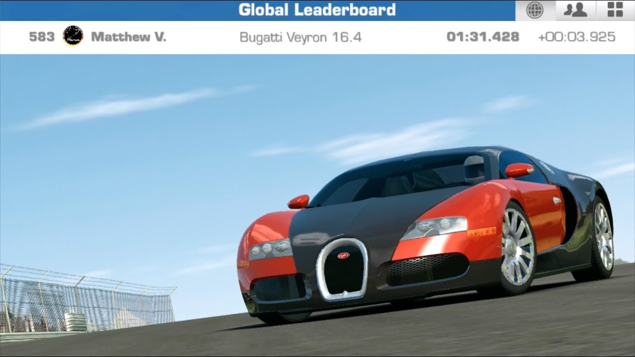 real racing 3 bugatti veyron 16 4 dubai autodrome gpc time trials 1 31. Black Bedroom Furniture Sets. Home Design Ideas