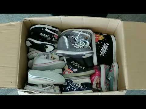 thumbnail video Детская обувь оптом Disney сток 12,9 €/кг лот #33