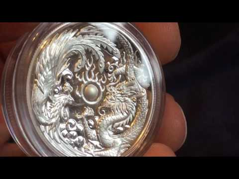 2017 Dragon & Phoenix High Relief 1 oz Silver Proof Coin Unboxing