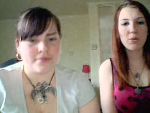 Mom and daughter on web cam