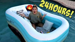24 Hours OVERNIGHT in my Pool CHALLENGE | Totally Taylor