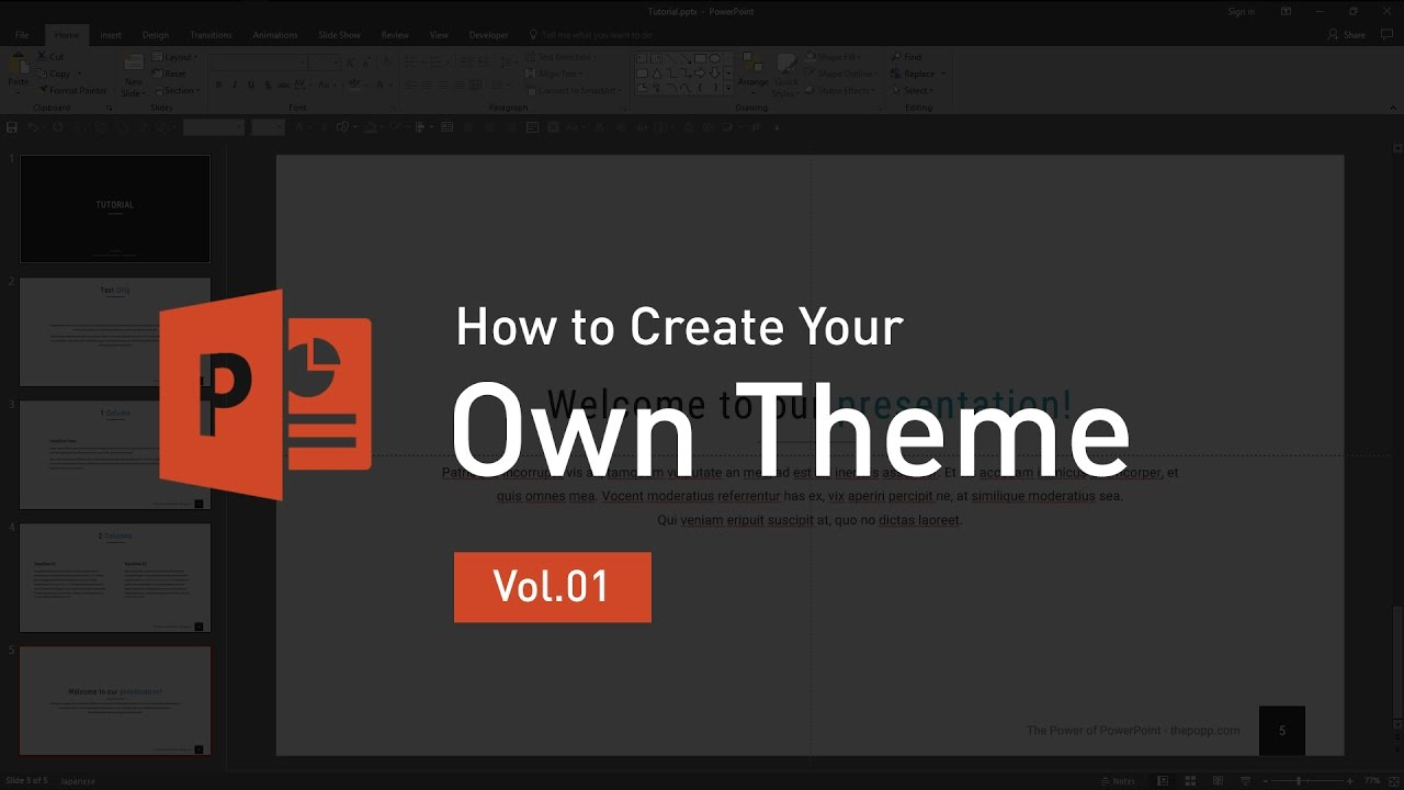 how to design your own powerpoint template - how to create your own theme powerpoint
