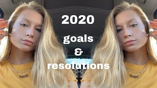 VLOG | getting ready for NYE + my 2020 GOALS AND RESOLUTIONS