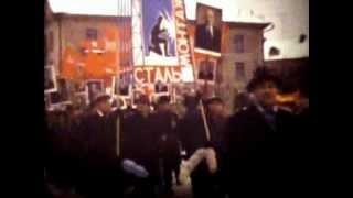 г.Видное. Ноябрьская демонстрация. Предположительно 1969 год.(При создании использованы материалы с оцифрованной 8-мм кинопленки (цвет)., 2013-03-31T08:22:13.000Z)