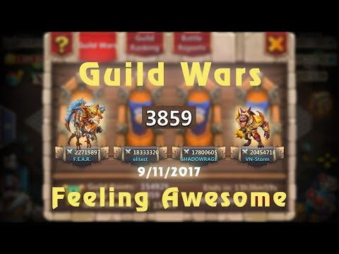 Castle Clash: Guild War TOP 5 - Corners Strategy | Feeling Amazing | Insane Hero Defence