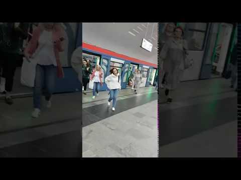 "поезд ""Москва"" на станции метро Бабушкинская"