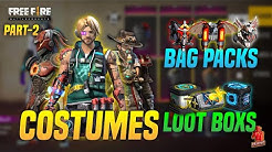 My Freefire Collection Part-2 | Old Season Elitepass And Rare Costumes with Backpacks | Pri Gaming