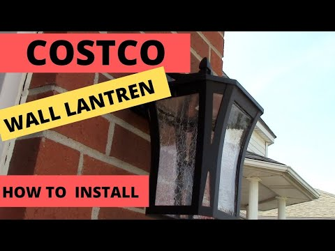 Diy Install New Coach Lights Wall Sconce From Costco