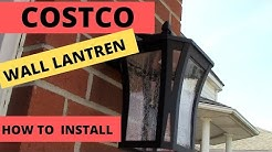DIY How To Install New Costco Outdoor Wall Lantern LED / Garage Coach Lights / Wall Sconce