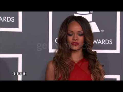 Rihanna at The 55th Annual GRAMMY Awards