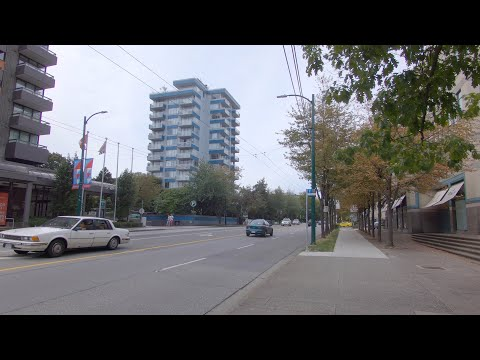 Vancouver BC Canada. Apartments To Hospital Area. West 10th Avenue - Cambie Street - W12. City Walk.