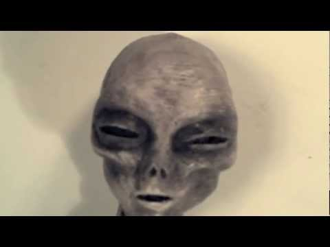 Alien Grey Skull Head recovered from Roswell UFO flying saucer crash site. Secret Area 51.