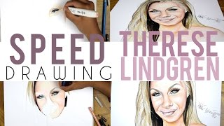 Speed Drawing, Therese Lindgren   Malin Arts