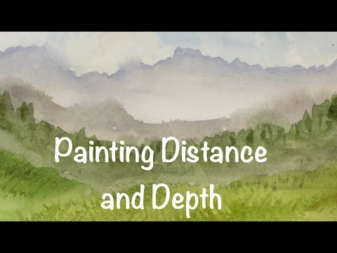 Painting Distance and Depth in your Landscapes Watercolor Tutorial Watercolour