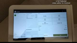 Clover pos transaction with a tip.