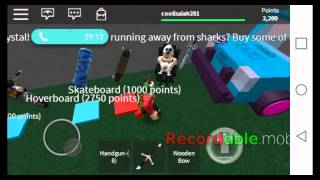 Playing roblox sharknado