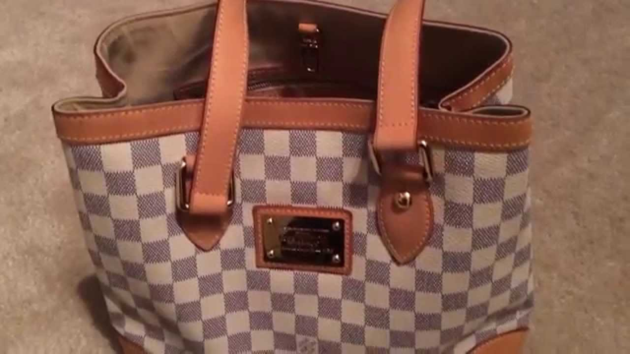 185740154aeb Louis Vuitton Hampstead PM in Damier Azur - YouTube
