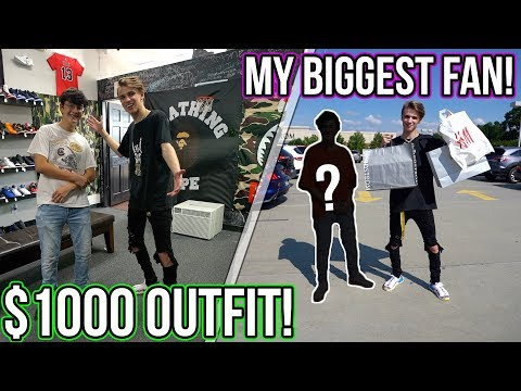 Turning my BIGGEST FAN into a Hypebeast!! ($1000 Outfit!)
