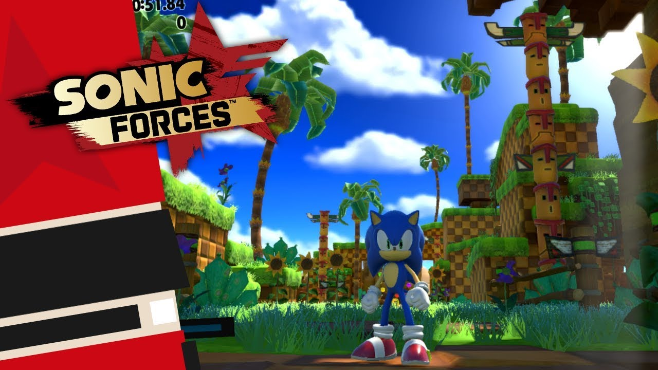 Sonic Forces Switch Modern Sonic Green Hill Gameplay