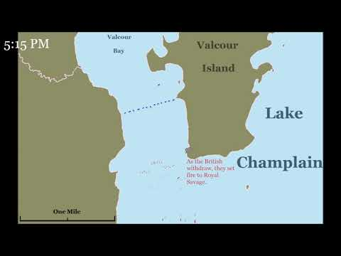 The Battle of Valcour Island: Lake Champlain, 1776 - Animated Map