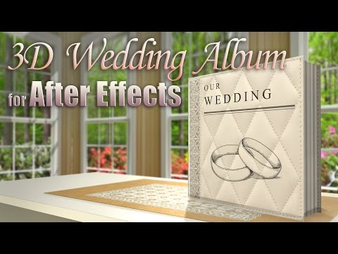 Custom 3D Wedding Album (After Effects)