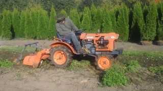 Traktorek ogrodowy Kubota 4x4 z glebogryzarką. Malotraktor . www.traktorki-japonskie.waw.pl