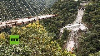 Сolapsa un puente en construcción en Colombia