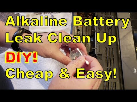 DIY:  How To Clean Up an Akaline Battery Leak