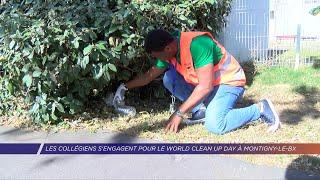 Yvelines | Les collégiens s'engagent pour le World Clean Up Day à Montigny-le-Bretonneux