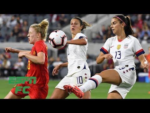 U.S. Women's National Team racks up 6 goals in win vs. Belgium | ESPN FC