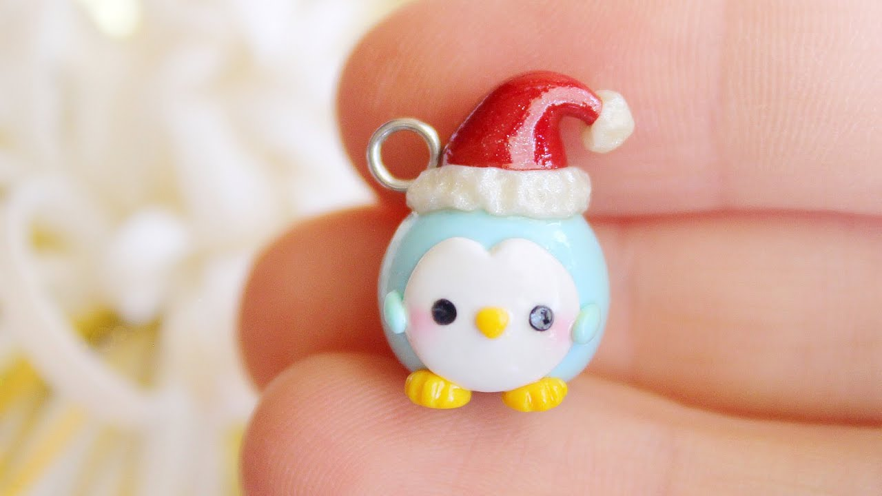Christmas Penguin │ Polymer Clay Tutorial - YouTube